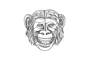 Humanzee Smiling Doodle