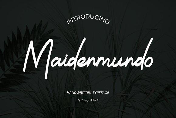 Maidenmundo Typeface