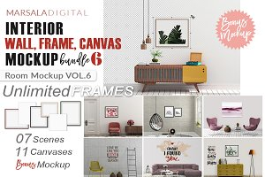Interior Room Frame Mockup Bundle v6