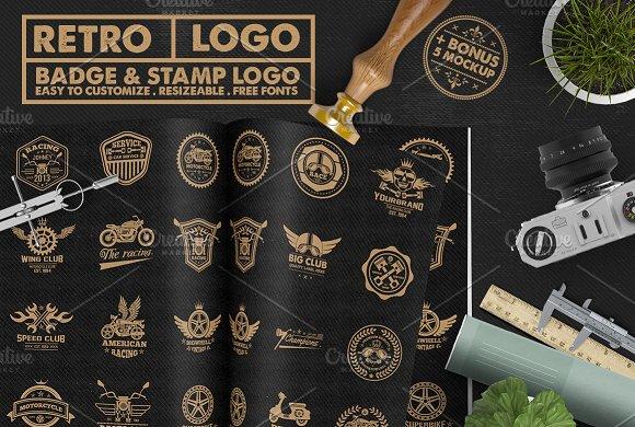 Race Badge Stamp Logo 5 Mockup