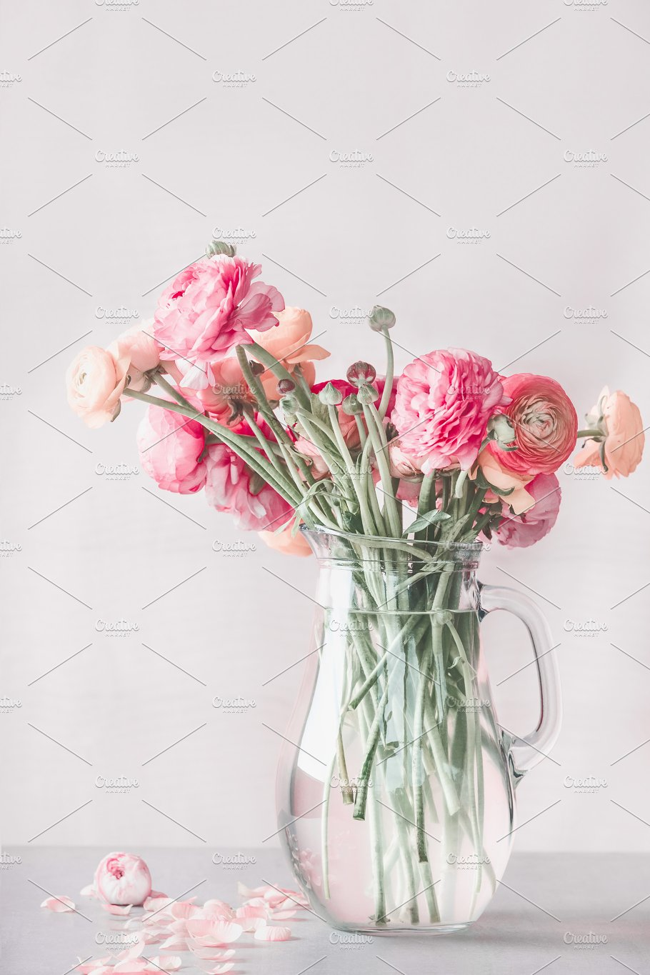 Pastel pink flowers in glass vase arts entertainment photos pastel pink flowers in glass vase arts entertainment reviewsmspy