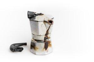 Burned Moka pot