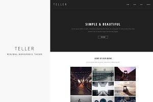 Teller - Minimal/Responsive WP Theme