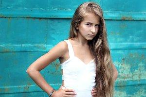 Portrait of a beautiful teenage girl