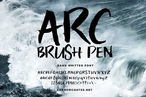 Font: ARC Brush Pen