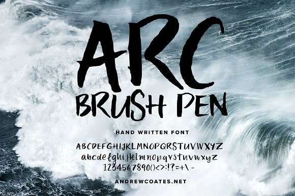 Font ARC Brush Pen