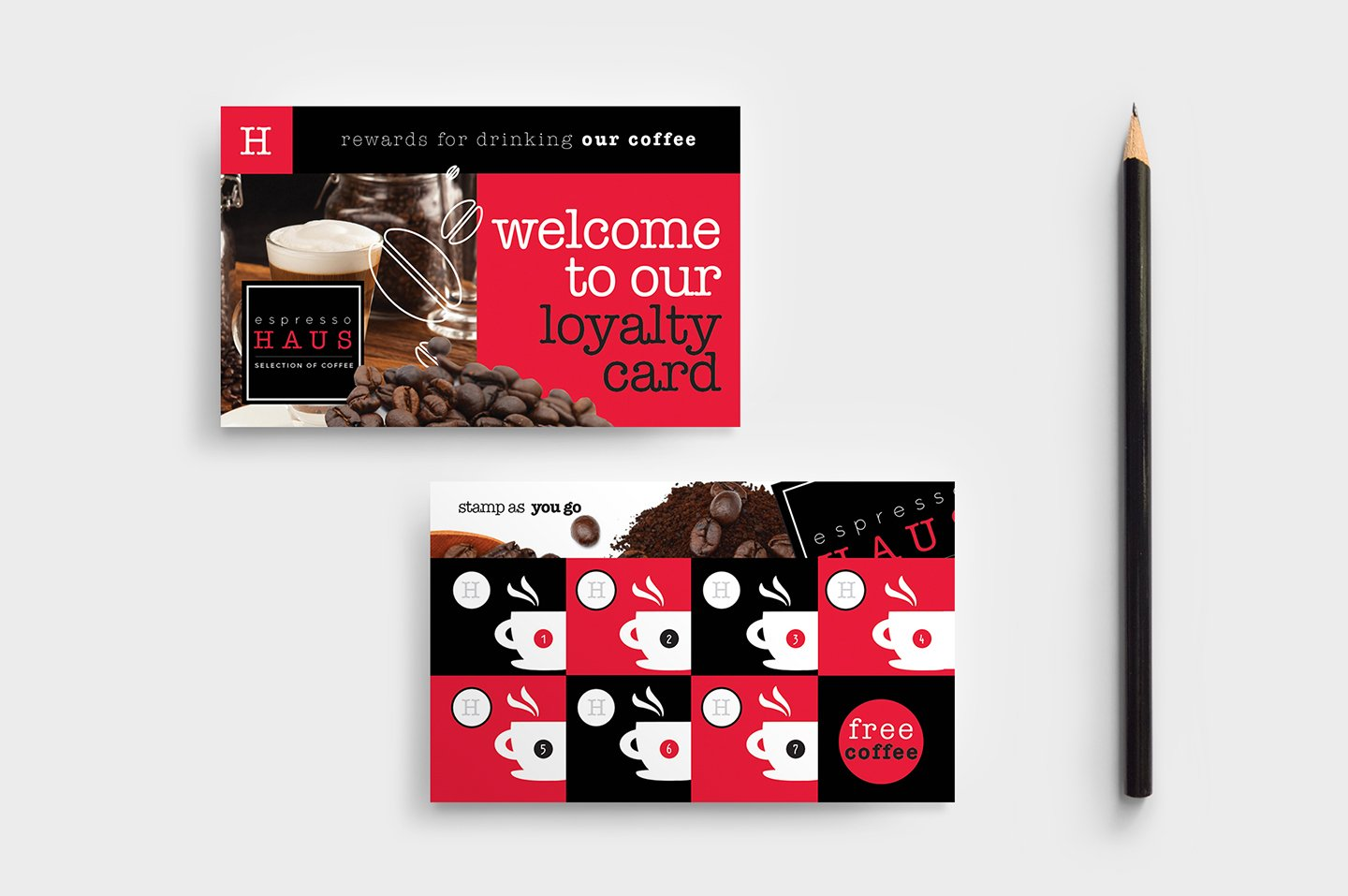 Cafe Loyalty Card Template Business Card Templates Creative Market - Loyalty card template