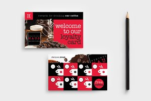 Cafe Loyalty Card Template