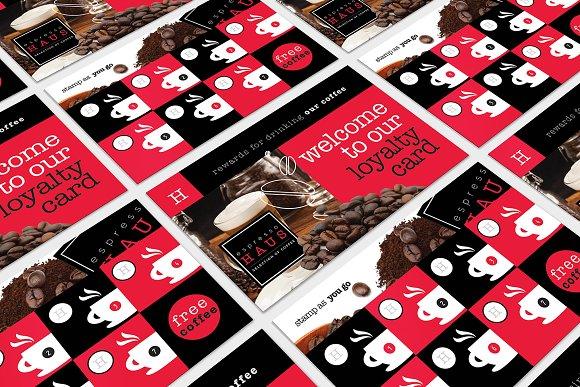 cafe loyalty card template business card templates creative market