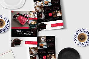A4 Cafe Menu Template