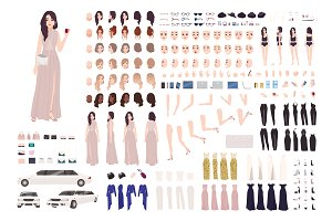 Elegant woman- DIY kit, creation set