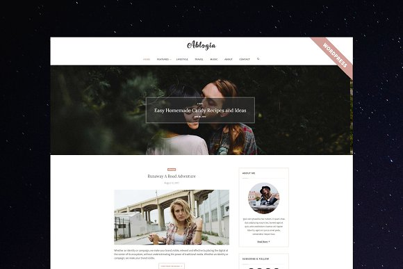 Ablogia WordPress Blog Theme