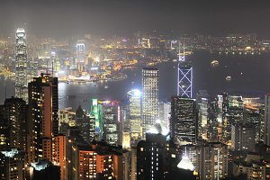 Night Hong Kong Panorama
