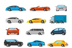 Colorful Vehicles Collection