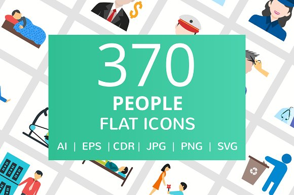 370 People Flat Icons
