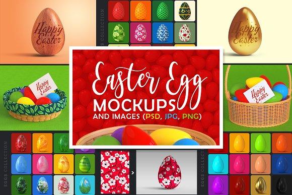Download Easter Egg Mockups and Images