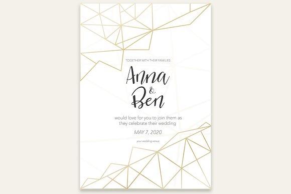 Beautiful Graphic Wedding Invitation