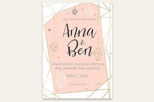 Beautiful romantic invitation card