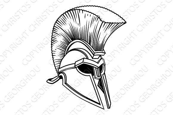 Spartan Trojan Roman Helmet