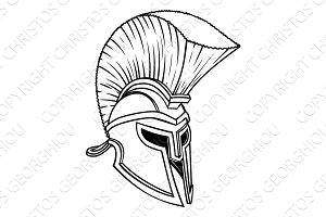 Ancient Greek Spartan Helmet