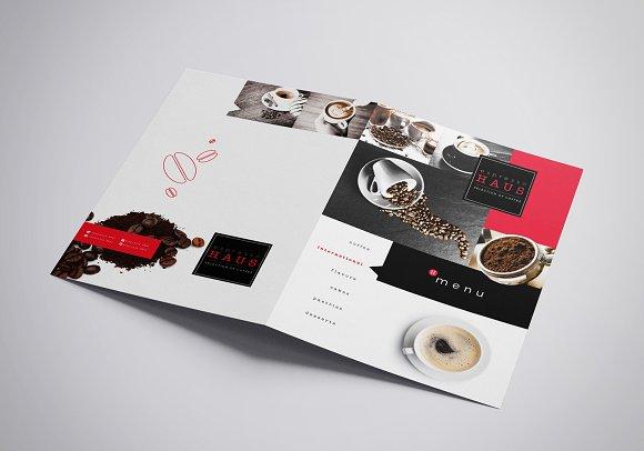 folding a3 cafe menu template brochure templates creative market