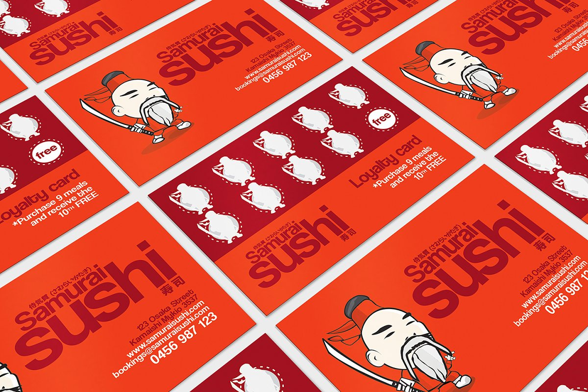 Sushi Restaurant Loyalty Card