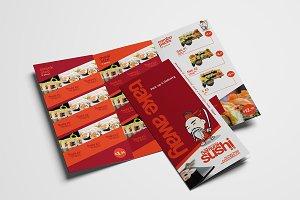 Trifold Sushi Menu Template