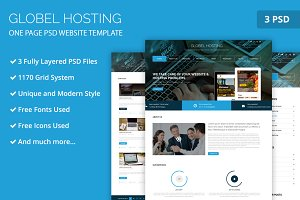 One Page Hosting PSD Web Template