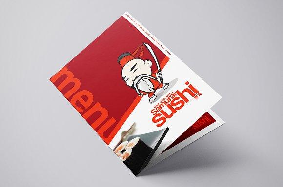 folding a3 sushi menu template brochure templates creative market