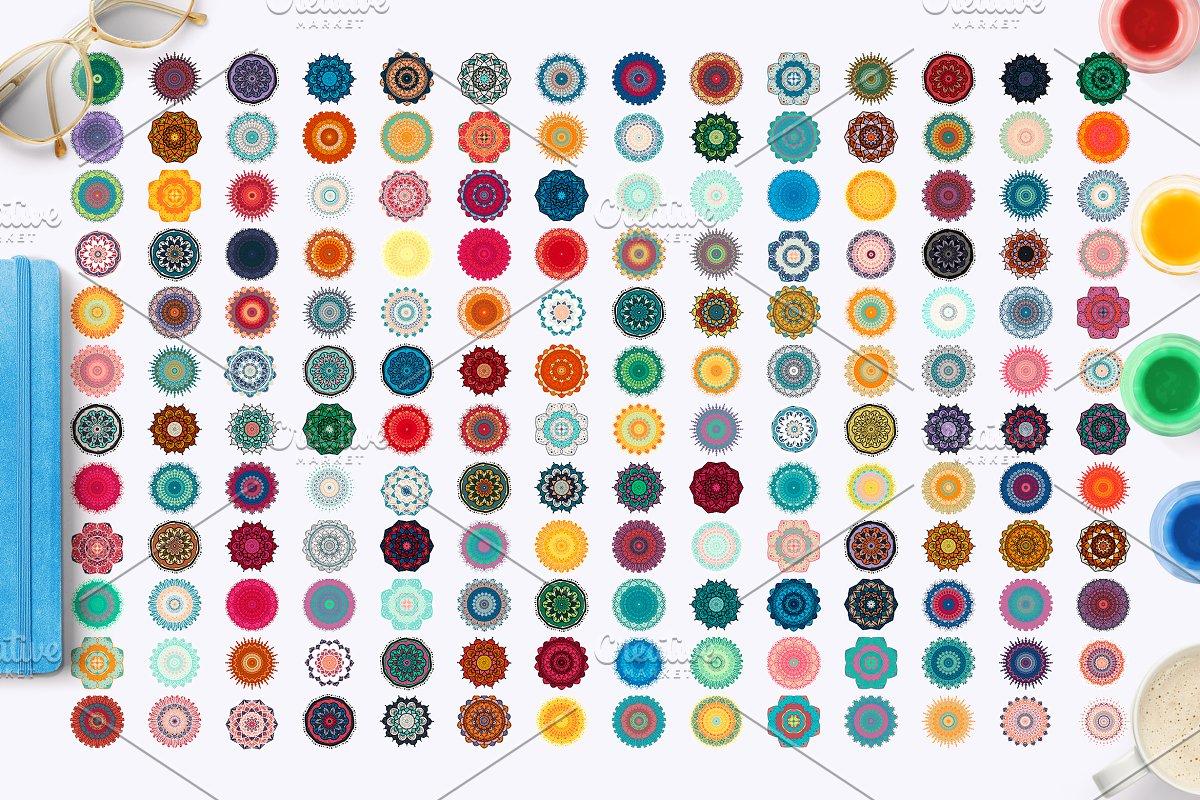 168 Colorful Mandalas