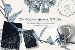 Hand Drawn Gumnut Flower Collection