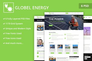 Solar Power PSD Website Template
