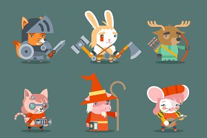Animal fantasy rpg game heroes