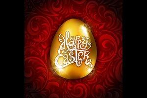 vector Happy Easter golden Egg
