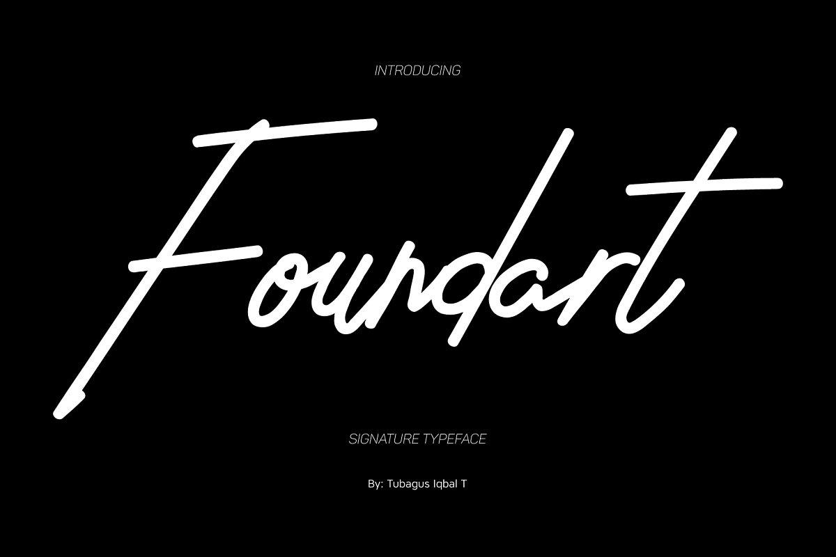 Foundart signature typeface ~ Script Fonts ~ Creative Market