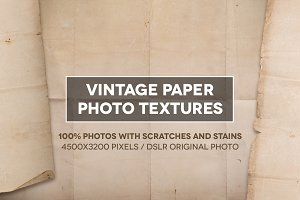Vintage and grunge paper textures