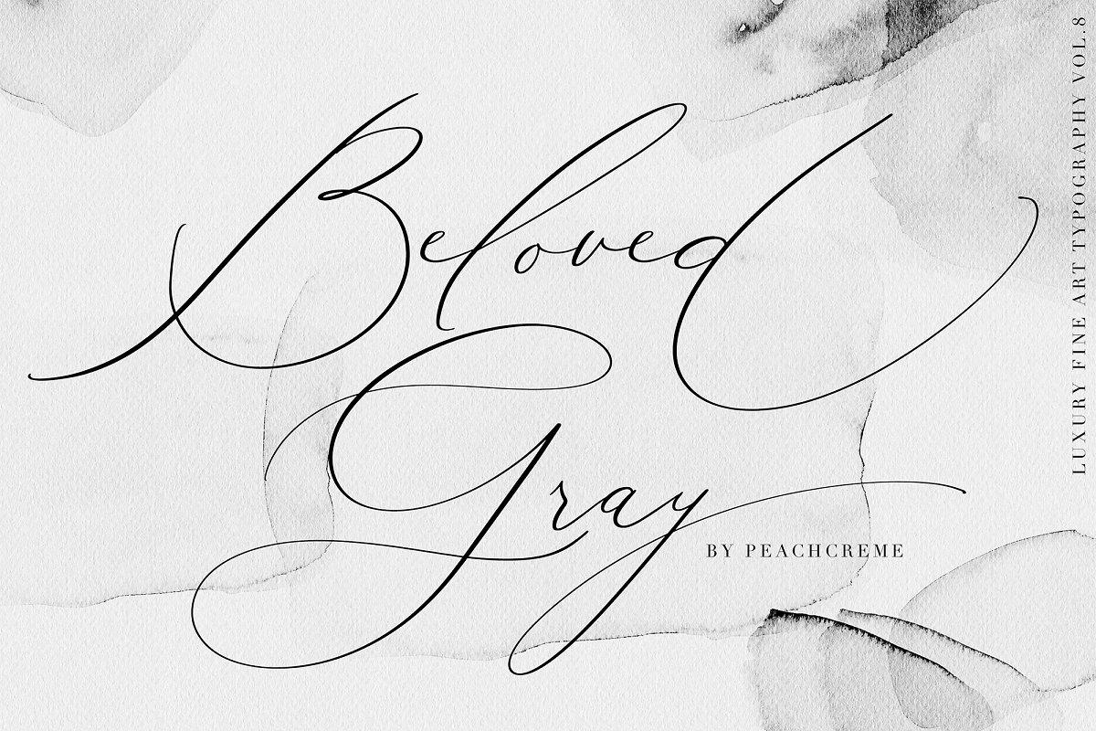 Beloved Gray -Fine Art Font