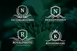 Crest Logo Templates Bundle