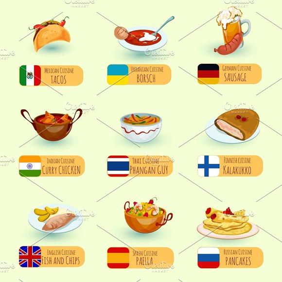 World Food Icons Set
