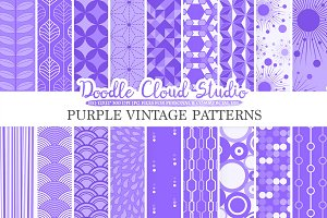 Purple Retro digital paper