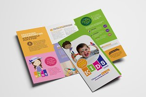 Trifold After School Care Template