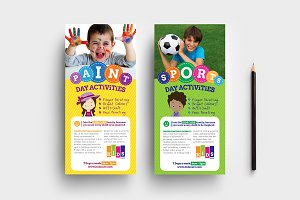 After School Care DL Card Template