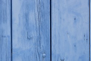 Blue wooden planks surface
