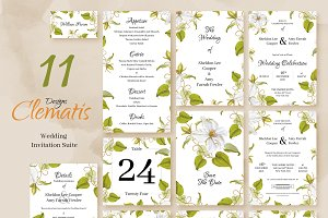Clematis.Wedding Invitation