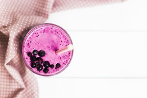 Currant smoothies. Top view
