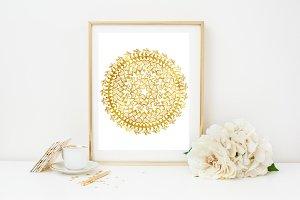 Gold Foil Doily Clip Art