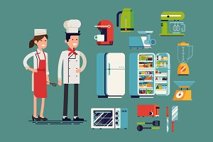 Flat Vector Cooking & Kitchen Items