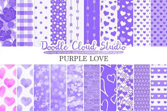 Purple Romantic digital paper