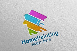 Home Painting Vector Logo Design 9