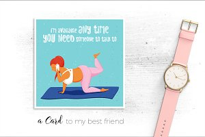 Just a card to my best friend